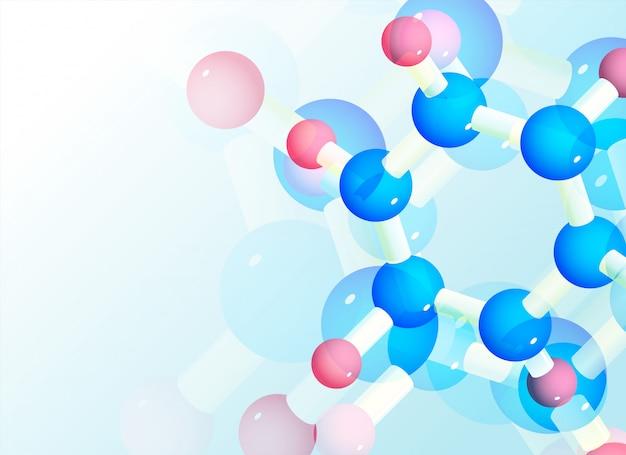 Fundo abstrato de moléculas para a ciência