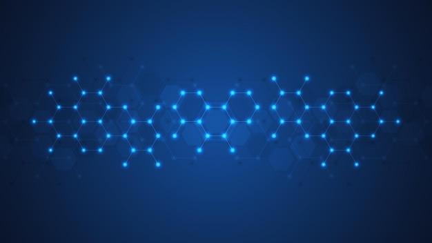 Fundo abstrato de moléculas