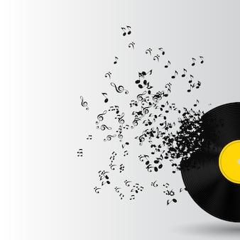 Fundo abstrato de música