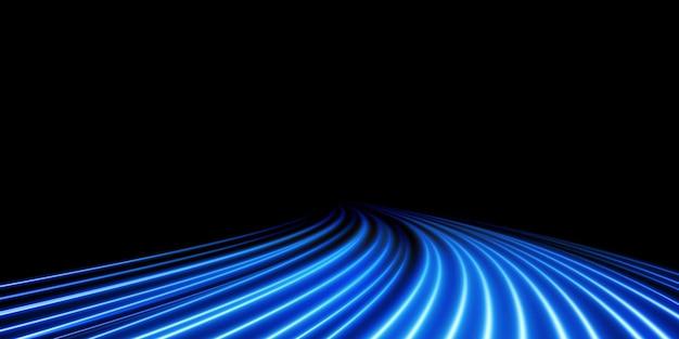 Fundo abstrato de natal de linhas azuis suaves de luz linhas azuis de velocidade novo 2022
