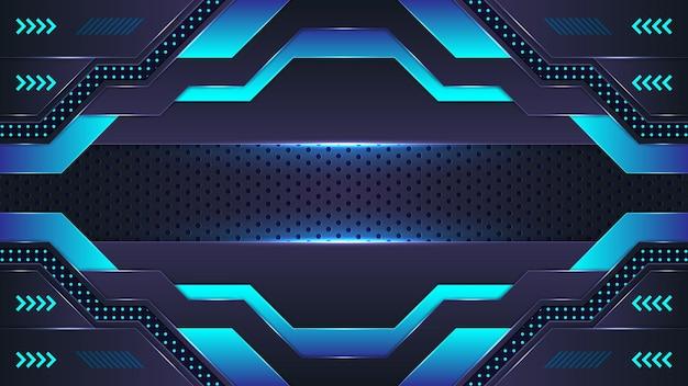 Fundo abstrato de néon gradiente ciano e azul