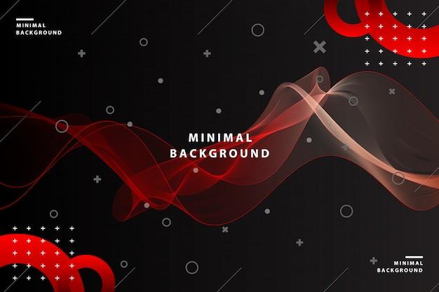 Fundo abstrato de onda vermelha colorida dinâmica