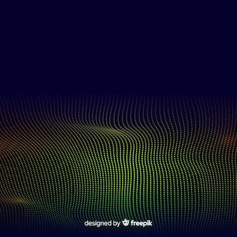 Fundo abstrato de ondas de partículas de equalizador