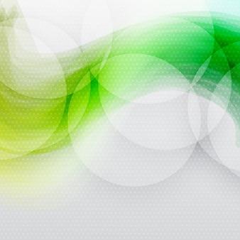 Fundo abstrato de ondas verdes.