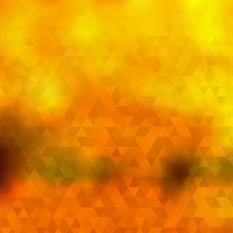 Fundo abstrato de outono de pequenos triângulos em cores laranja