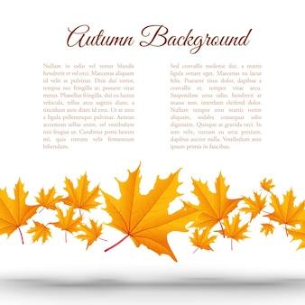 Fundo abstrato de outono