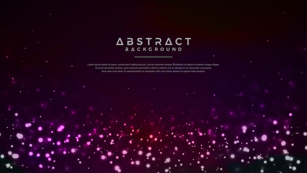 Fundo abstrato de partículas a brilhar.