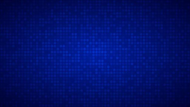 Fundo abstrato de pequenos círculos ou pixels em cores azuis.