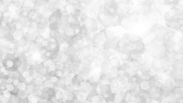 Fundo abstrato de pequenos hexágonos em cores brancas