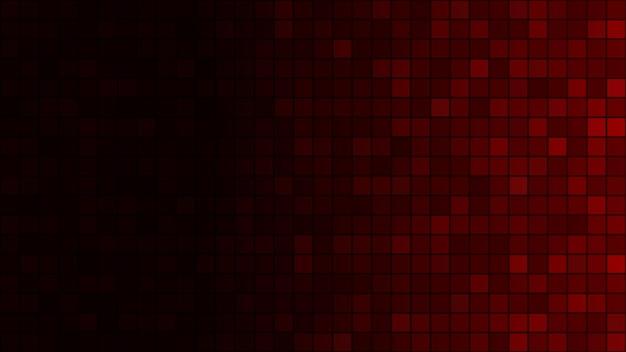 Fundo abstrato de pequenos quadrados em cores vermelho-escuras com gradiente horizontal
