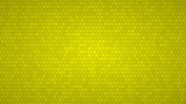 Fundo abstrato de pequenos quadrados em tons de cores amarelas