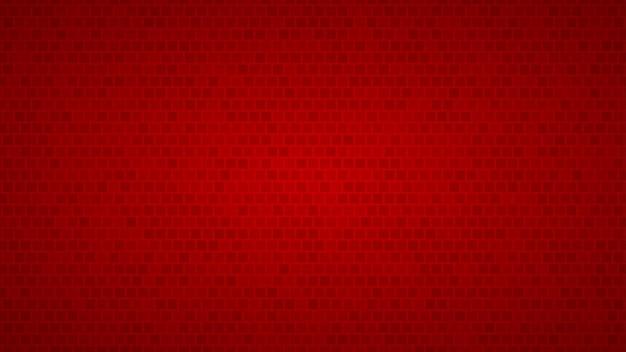 Fundo abstrato de pequenos quadrados em tons de vermelho