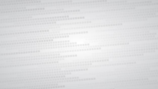 Fundo abstrato de pequenos quadrados ou pixels em tons de cinza e branco