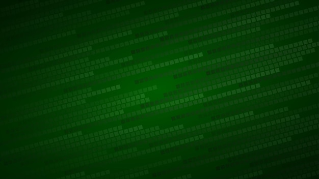 Fundo abstrato de pequenos quadrados ou pixels em tons de verde escuro