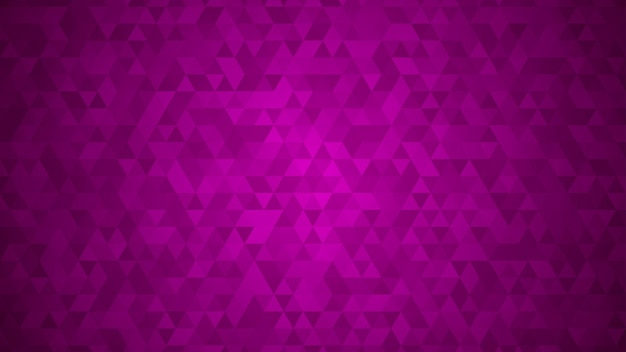 Fundo abstrato de pequenos triângulos em cores roxas.