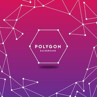 Fundo abstrato de polígono roxo