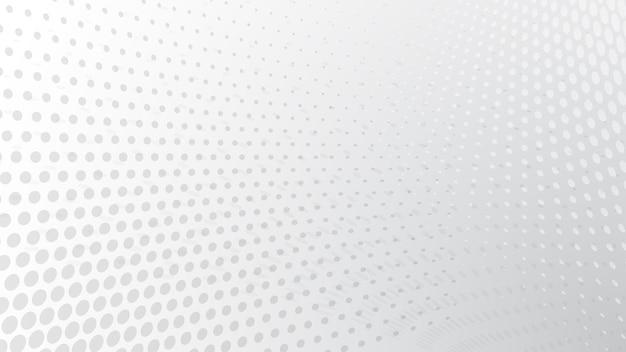 Fundo abstrato de pontos de meio-tom em cores brancas