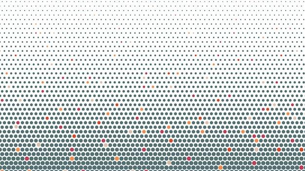 Fundo abstrato de pontos de meio-tom em cores cinza