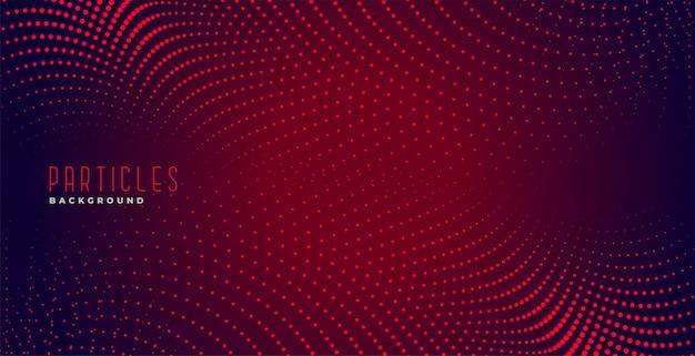 Fundo abstrato de pontos digitais de partículas vermelhas