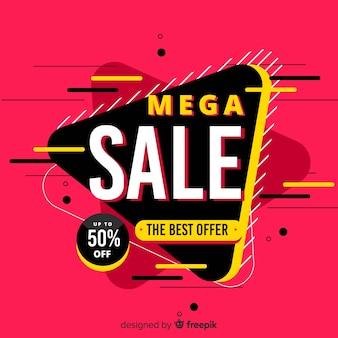 Fundo abstrato de promoção de vendas