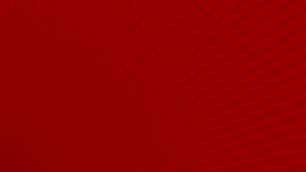Fundo abstrato de raios gradientes em cores vermelhas