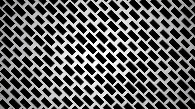 Fundo abstrato de retângulos dispostos diagonalmente em cores pretas