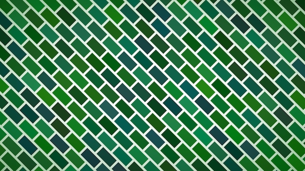 Fundo abstrato de retângulos dispostos diagonalmente em cores verdes