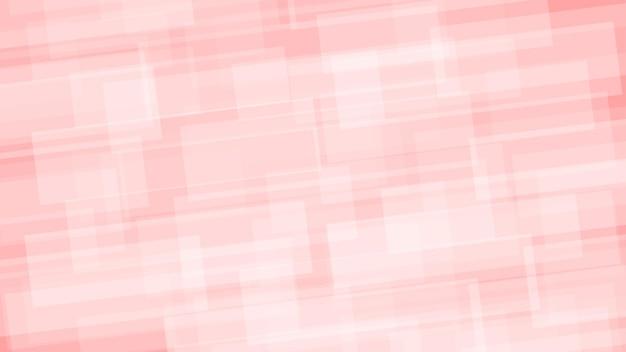 Fundo abstrato de retângulos translúcidos nas cores branco e vermelho claro