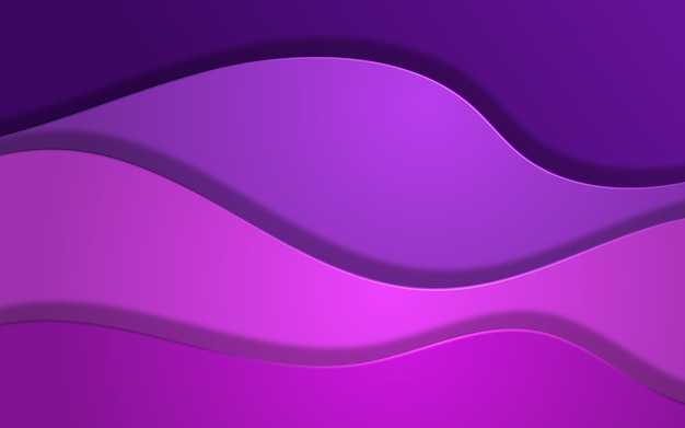 Fundo abstrato de sobreposição de onda em cores roxas