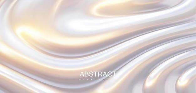 Fundo abstrato de superfície brilhante com ondulações onduladas