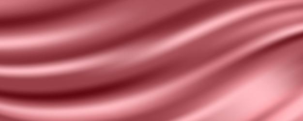 Fundo abstrato de tecido de seda ouro rosa