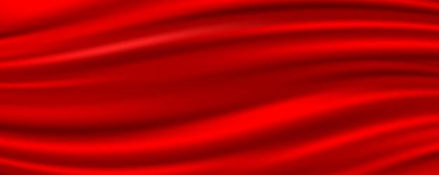 Fundo abstrato de tecido de seda vermelha