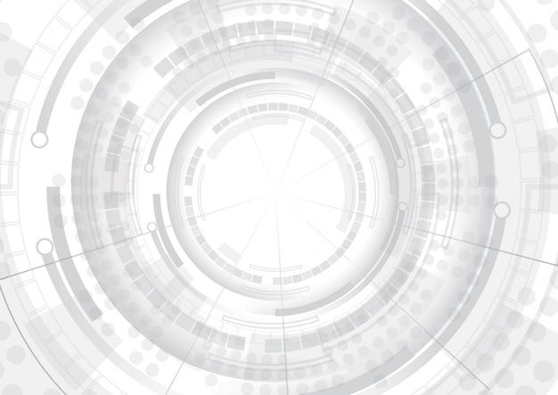 Fundo abstrato de tecnologia cinza