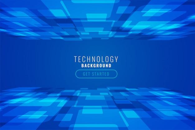 Fundo abstrato de tecnologia digital em estilo de perspectiva