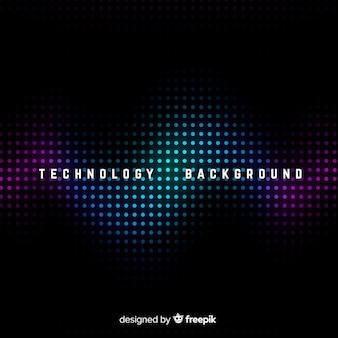 Fundo abstrato de tecnologia escura