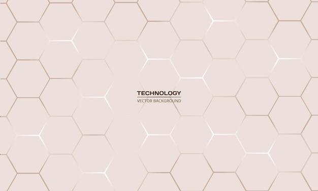 Fundo abstrato de tecnologia hexagonal leve