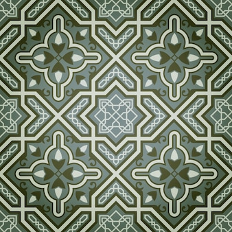 Fundo abstrato de tinta a óleo verde padrão decorativo sem emenda