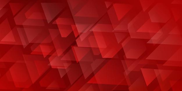 Fundo abstrato de triângulos e polígonos que se cruzam em cores vermelhas