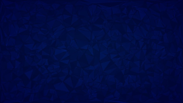 Fundo abstrato de triângulos em cores azuis.