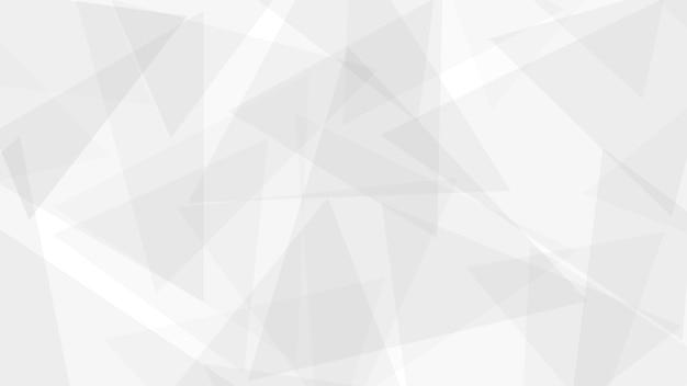 Fundo abstrato de triângulos translúcidos em cores brancas