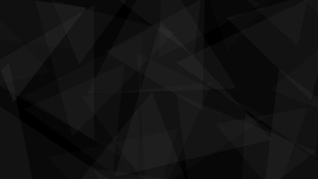 Fundo abstrato de triângulos translúcidos em cores pretas