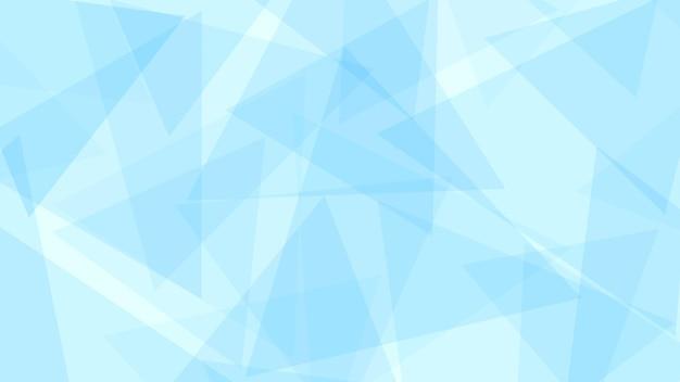 Fundo abstrato de triângulos translúcidos em tons de azul claro