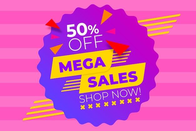 Fundo abstrato de vendas com mega vendas