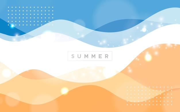 Fundo abstrato de verão com cor ondulada
