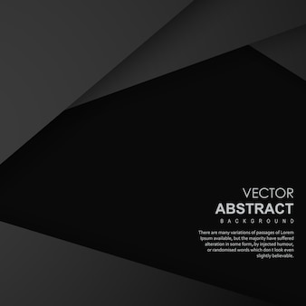 Fundo abstrato de vetor preto