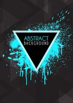 Fundo abstrato design com splatter grunge