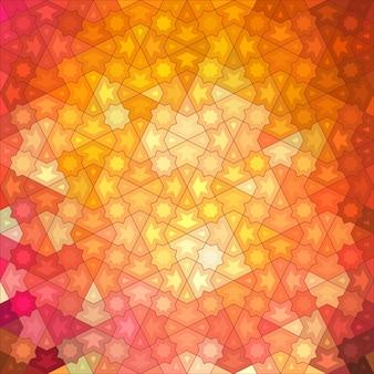 Fundo abstrato, design geométrico, ilustração vetorial. tesselação geométrica da superfície colorida. estilo de janela de vitrais. borrão de cor abstrata.