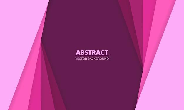 Fundo abstrato diagonal com linhas de corte de papel de cor rosa.