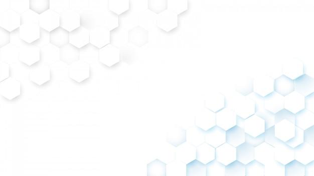 Fundo abstrato digital do conceito dos hexágonos da tecnologia da tecnologia olá!