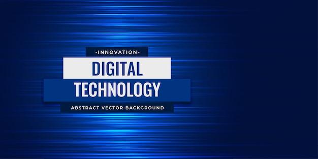 Fundo abstrato digital linhas azuis